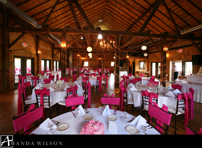 hot pink and white wedding centerpieces